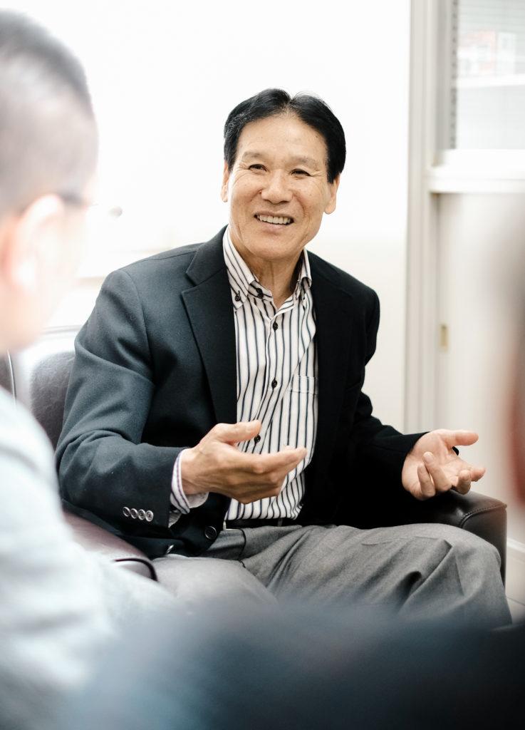 森谷敏夫教授との対談写真